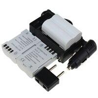 3ピースバッテリー+充電器7.4ボルト充電式liイオンバッテリーオリンパスe300 e500 e3 e5 e520 e510