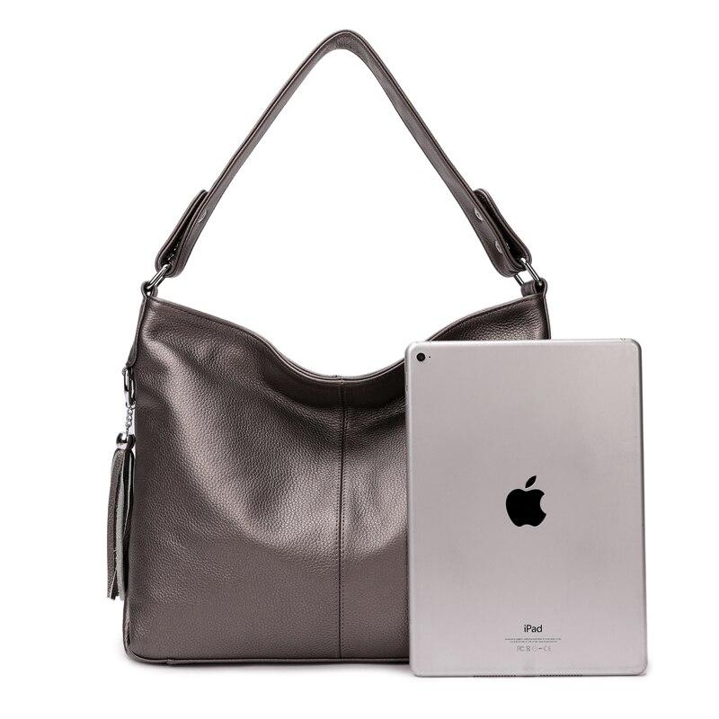 Aodux الأزياء 100% الطبيعي جلد طبيعي المرأة مقبض حقيبة الإناث عبر الجسم رسول الكتف جلد البقر حقائب السيدات الفتيات-في حقائب الكتف من حقائب وأمتعة على  مجموعة 3