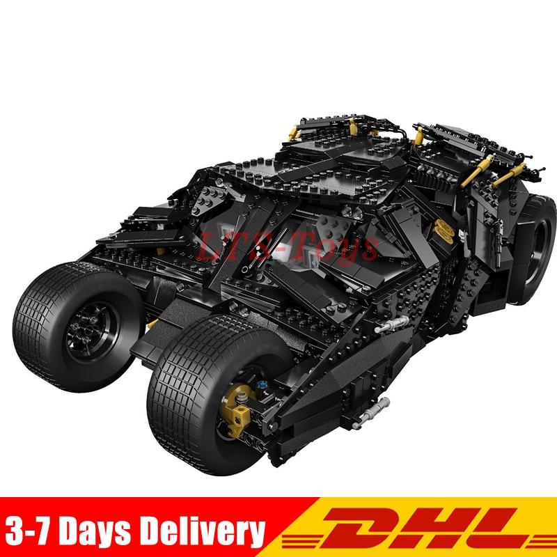 Compatible Legoings 76023 Lepin 07060 1969Pcs Super Heroes Batman Chariot The Tumbler Batmobile Batwing Building Blocks Bricks стоимость