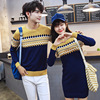 KJ290 Couple Sweaters For Lovers Clothes Women Knitted Pullovers Autumn And Winter O Neck Casual Long