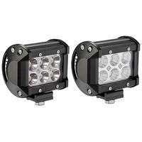2pcs 18W Spot Flood LED Driving Light 4 Inch LED Work Light Bar LED Bar Offroad Car LED Bulb