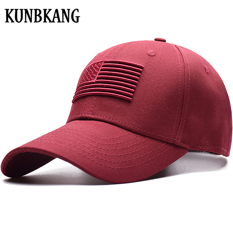 KUNBKANG USA Flag Baseball Cap Men Women Eagle Dad Hat Bone Outdoor Snapback Cap