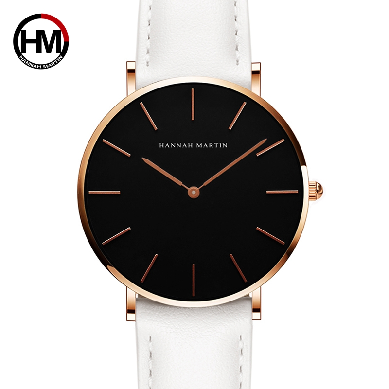 2018 Fashion Simple Japan Quartz Minimalistisch horloge Lederen band - Dameshorloges - Foto 3