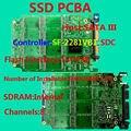 O SSD de alta qualidade placa de circuito, SSD PCBA SF2281VB1 Controlador, SSD DIY, SATA6Gb/s Interface SSD PCBA, Interface em Flash TSOP48