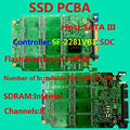 The high-quality SSD circuit board, SSD PCBA SF2281VB1 Controller, DIY SSD, SATA6Gb/s Interface SSD PCBA, Flash Interface TSOP48