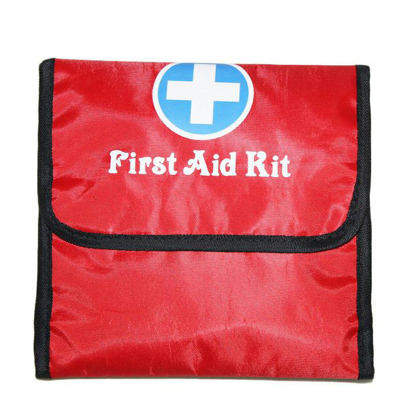 Outdoor First Aid Kit Outdoor Sports Red Nylon Waterproof Cross Messenger Bag Family Travel Emergency Medical Bag DJJB035