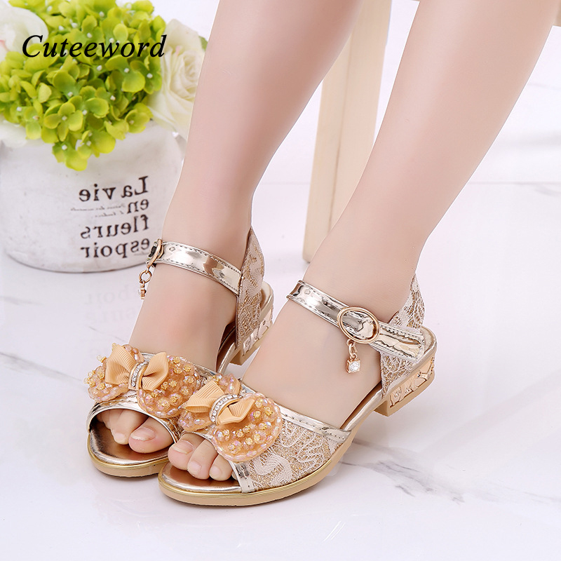 0d82ba97a3 2019 Summer Girls Sandals Lace Leather Girls Princess Shoes Fashion Pearl  Bow Party Dance Kids Sandals Children Shoes Wholesale-in Sandals from  Mother ...