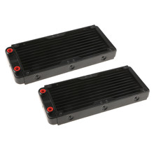 2x Aluminum Computer CPU 10 Pipes Water Cooling Radiator System 240mm G4/1(China)