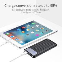 Baseus 10000mAh LCD Quick Charge 3.0 Dual USB Power Bank For iPhone X 8 7 6 Samsung S9 S8 Xiaomi Powerbank Battery Charger QC3.0 3