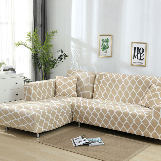 L shaped Sofa Cover – Stretch Sectional Couch Cover Sofa Set – 1/2/3/4 seater