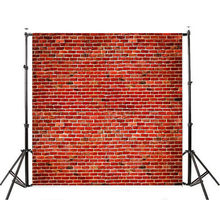 10x10FT Retro Red Brick Wall Photography Background Studio Photo Props Child Wedding Couple Anchor Photo Backdrop Party Backdrop(China)