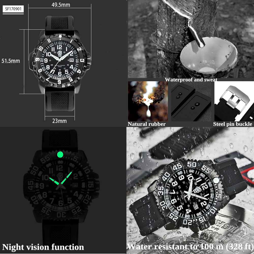EDC.1991 Outdoo Survival Watch Sealed box Bracelet Waterproof Watches For Men Women Camping Hiking Military Tactical Gear