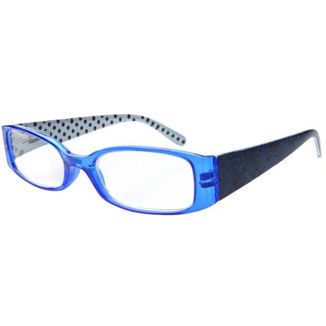 7fb9d335654 R040P Eyekepper Spring Hinges Polka Dots Patterned Temples Reading Glasses  Readers Women +0.50----+4.00