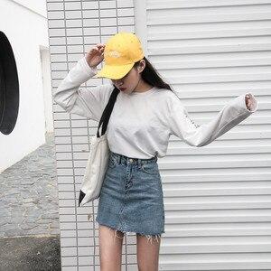 Image 5 - Hzirip קיץ אופנה גבוהה מותן חצאיות נשים כיסי כפתור ג ינס חצאית נשי Saias 2020 חדש כל בהתאמה מזדמנים ג ינס חצאית