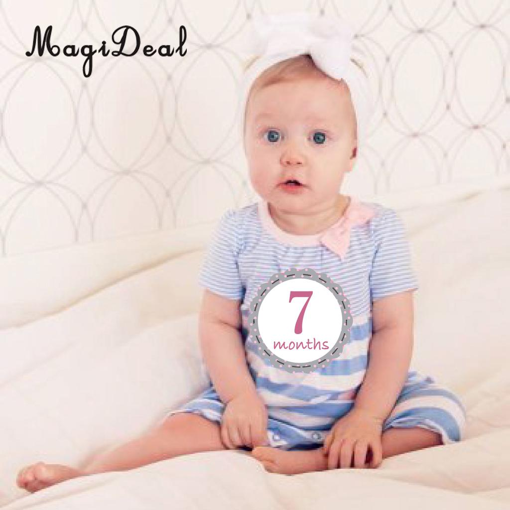 Baby Girl Monthly Sticker Baby Shower Photo Prop 1 to 12 Month