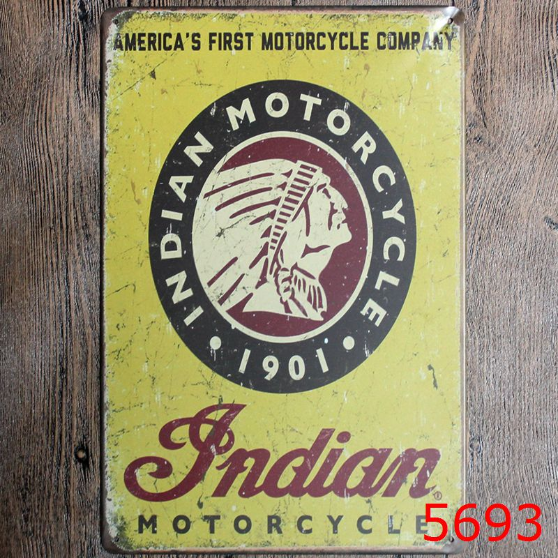 Classic vintage car motorcycle rider roadmaster Tin Sign Coffee Shop ...