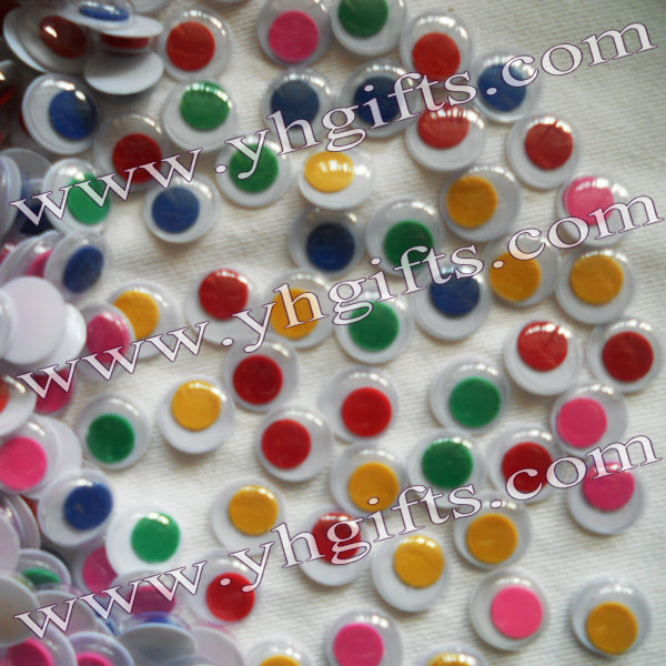 1000PCS LOTColorful 8mm EyeballPlastic Wiggle EyesToy EyeballCraft Work Kids DiyHandmade AccessoriesKindergarten Supplies In Dolls Accessories From