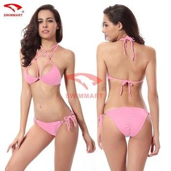 SWIMMART Hot Push Up Buttocks Gold Beads Bikini Swimsuits Swimwear Women Sexy Bikinis Set Bathing Suit Swim XL 6