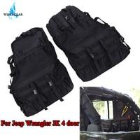 Wisengear 2 шт. нескольких карманами для хранения организаторы грузовой мешок сума Чемодан Сумки для инструментов гаджет держатель для Jeep Wrangler JK
