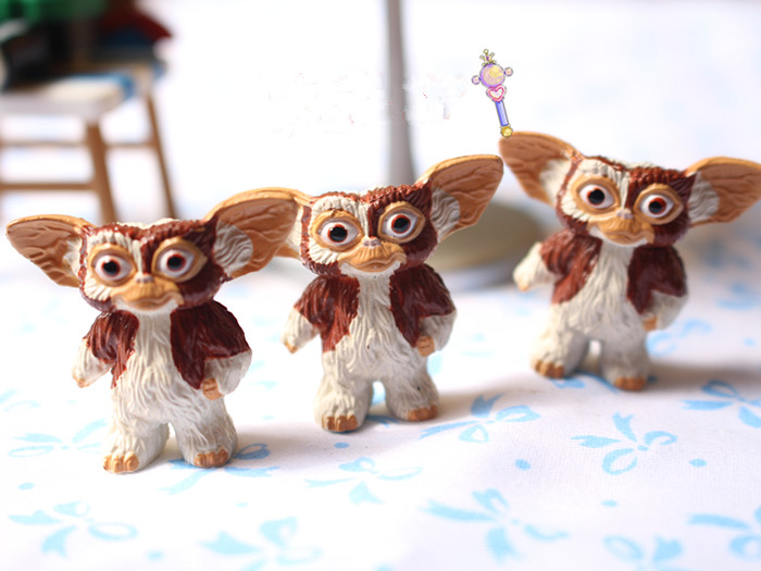 new 1pieces/lot Brown Gremlins Gizmo pvc doll 3cm toy furnishing articles Children's gift new 1pieces lot pvc qq mini shape shifting robot car monster machines furnishing articles children s gift