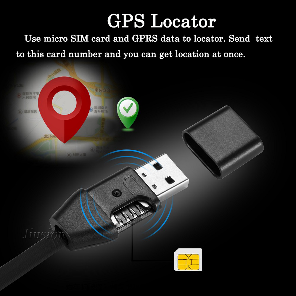 GPS Activity Tracker Vehicle Car Locator USB Cable Charger Listen Sound GSM GPRS Tracking Alarm Devices for iPhone Android
