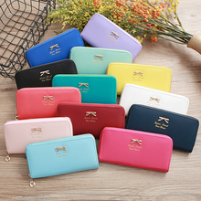 Female High Quality Money Bag PU Leather Wallet Long