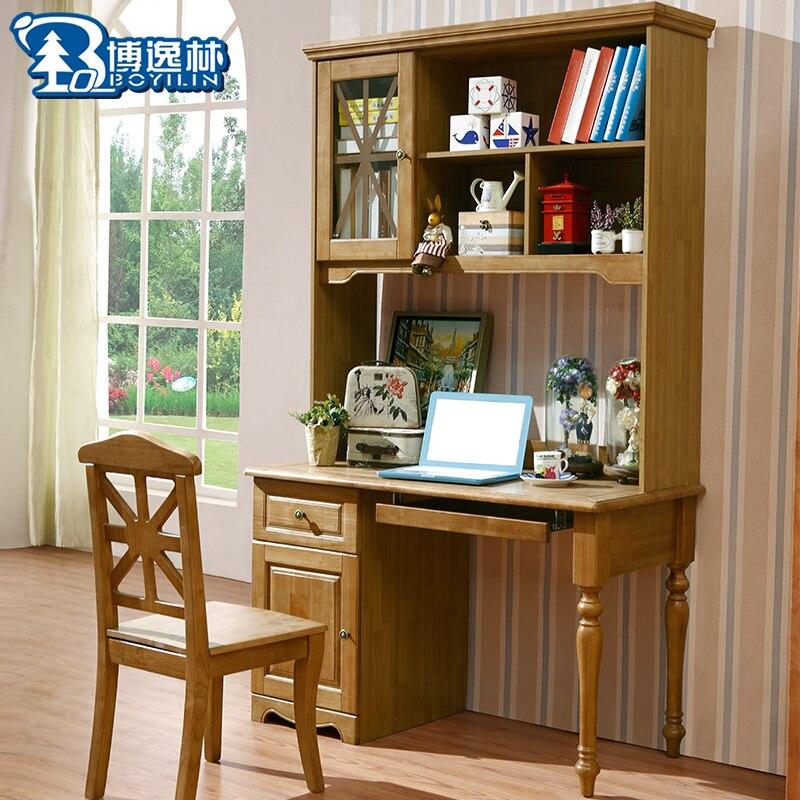 Tutto in legno massello desktop del computer scrivania con ...