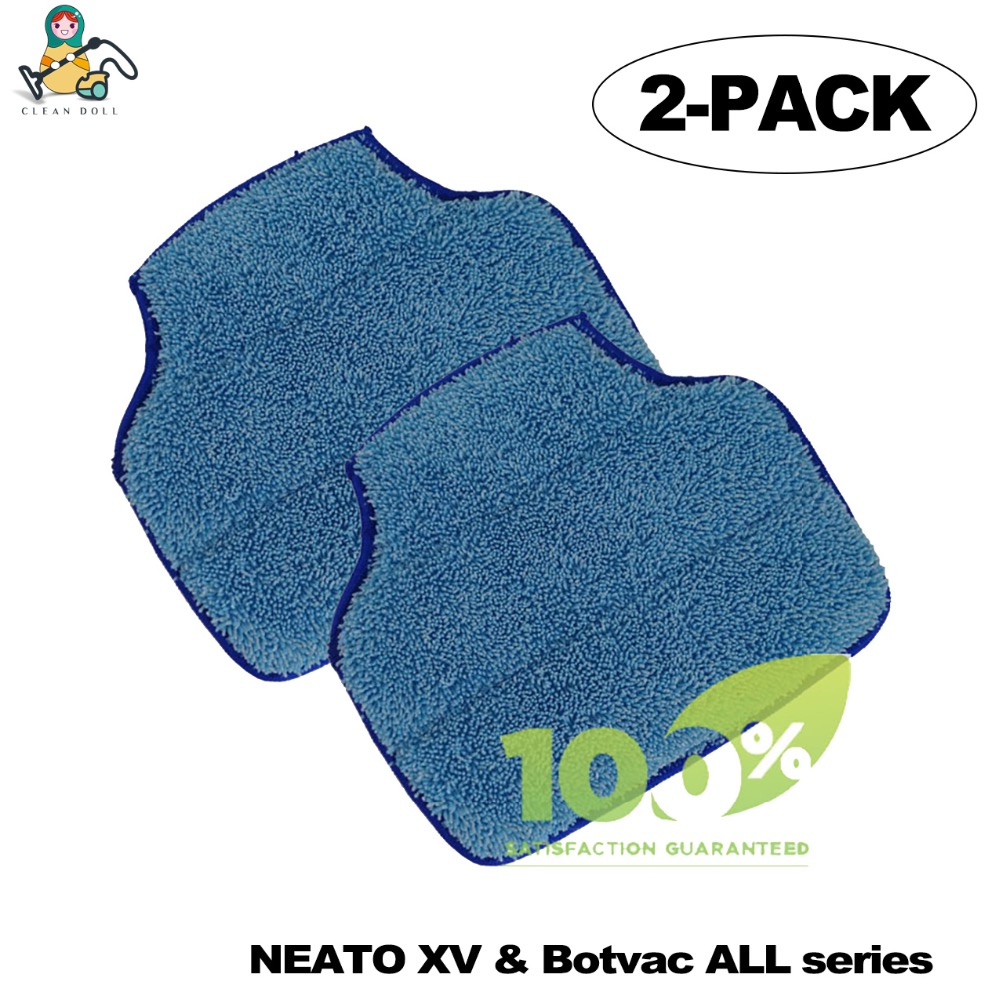 CLEAN DOLL 2-PACK Replacement Mop pads for Neato XV-11 XV-12 XV-14 XV-15 XV-21 Botvac 70e 75 80 85 D7 Cleaner Mop Cloth 10pcs replacement hepa dust filter for neato botvac 70e 75 80 85 d5 series robotic vacuum cleaners robot parts