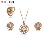 Xuping Fashion Jewelry Sets Fantastic Charm Women Girl Sets Rose Gold Color Plated Wedding Nice Gifts