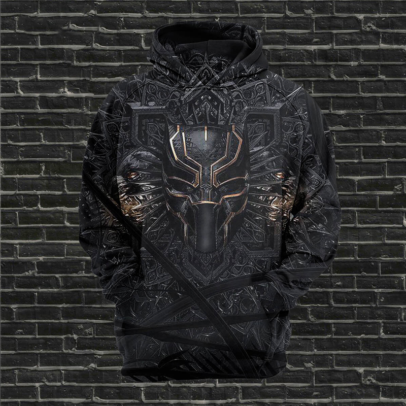 Newest Drop Shipping Creative Design Black Panther 3D Printing Hoodies For Men Wome Spring Loose Hooded Sweatshirts Pullover