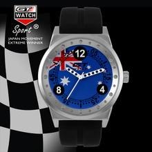 GT RELOJ Mundo Australia Relojes GT Deporte de Los Hombres Militares Reloj Mujer Vestido Reloj del Cuarzo Del estilo Colleage Vida