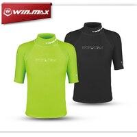 WINMAX Short Surf Clothing Diving Suits Shirt Rashguard Men Short Sleeves Swimwear Lycra Rash Guard Surf