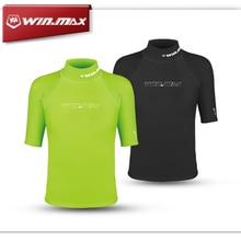 Winmax короткие серфинга одежды, дайвинг костюмы рубашка, rashguard мужчины, короткие рукава купальники, лайкра сыпь охраны для серфинга рубашка