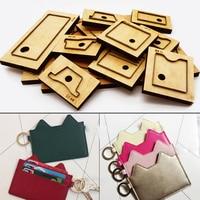 herramientas para cuero leather fabric cutter card holder key ring bag die cutting knife mould hand machine punch tool set