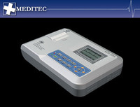 Contec ECG100G with 3 rolls of paper, Single Channel ECG Electrocardiograph ECG Monitor ECG EKG Machine