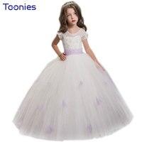 תחרה פרחים לחתונה מסיבת יום הולדת בנות שמלה מדהימה טקסים הערב רשמי שמלות כדור שמלת תחפושת שמלת נסיכת ילד