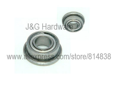Metal Shielded FLANGED Ball Bearing MF148 MF148z 10 PCS 8x14x4 mm MF148ZZ