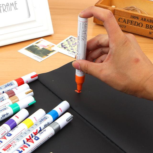 12 Colors Paint pen color paint Marker Pen Waterproof Car Tyre Tire Tread Rubber Metal Permanent Paint  Pen