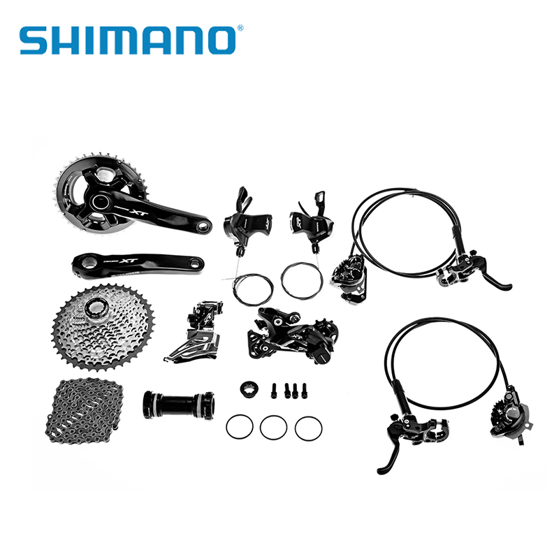 SHIMANO Deore XTM8000 Bike Bicycle Full Groupset Conventional 2*11 Speed Front Derailleur M8000 Rear Derailleur MTB Bicycle Part shimano deore xt m771 silver 9s 27s speed mtb bicycle rear derailleur part long cage
