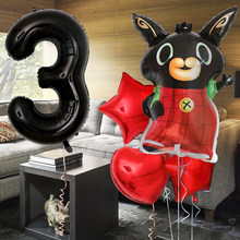 5pcs 13pcs Bing Bunny Foil Balloon Cartoon Rabbit Balloons 40inch Number Baby 1 2 3 4 5th Birthday Party Decor Supplies Toys(China)