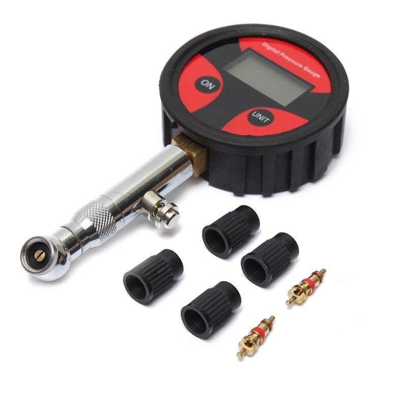Pressure Gauge 0-200PSI Metal Universal Tyre Digital Meter Manometer With Cap Core