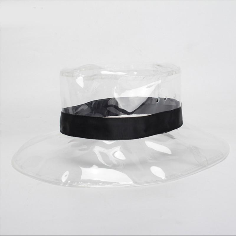 65b5b1d390e Fashion Bucket Hat For Women 2018 Summer Beach Hat PVC Transparent Sun  Visor Waterproof Rain Hat