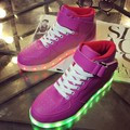2016 New Luminous Casual  Led  Shoes Couple High-top Shoes USB Charging Luminous Shoes