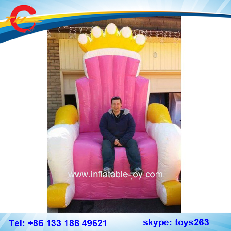 Inflatable Kids Birthday Chair: Free Air Shipping Pink Inflatable Throne Chair For