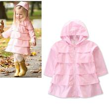 Mode Infantile Bébé Fille Vêtements Printemps Automne Veste Princesse  Partie Solide À Capuche Manteau Enfants Bébé 3be9d6d4ccc