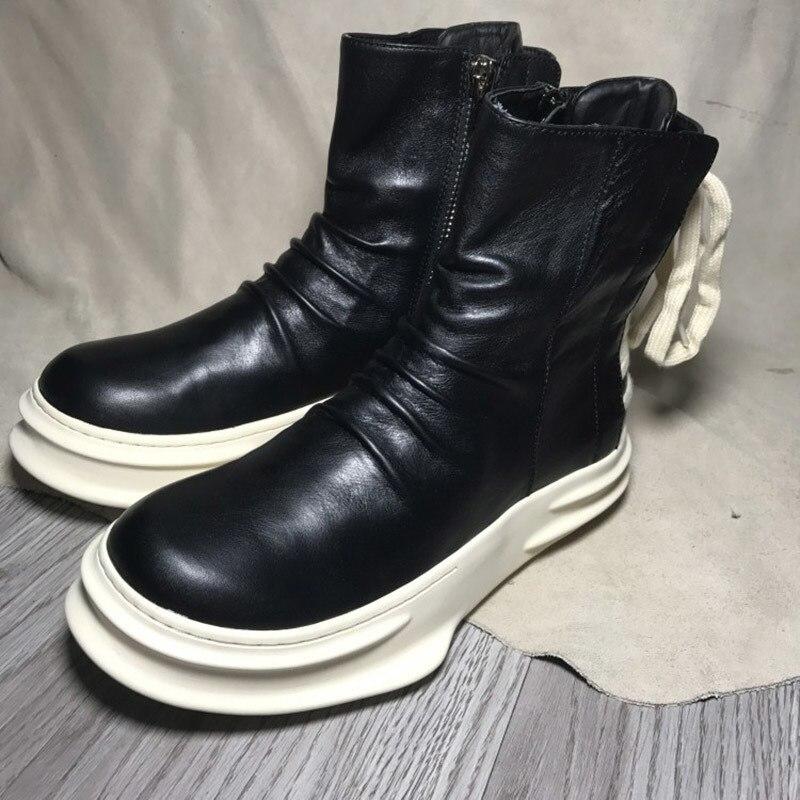 Hommes chaussures de course pour hommes baskets en cuir véritable chaussures de Sport haut de gamme chaussures décontractées homme marque femmes baskets taille 35 45