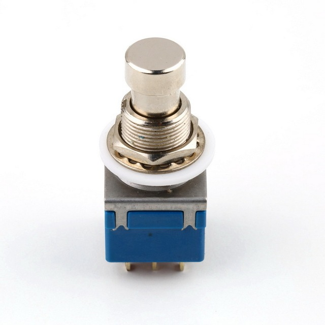 New Arrival 9-pin 3PDT Guitar Effects Pedal Box Stomp Foot Metal Switch True Bypass free shipping