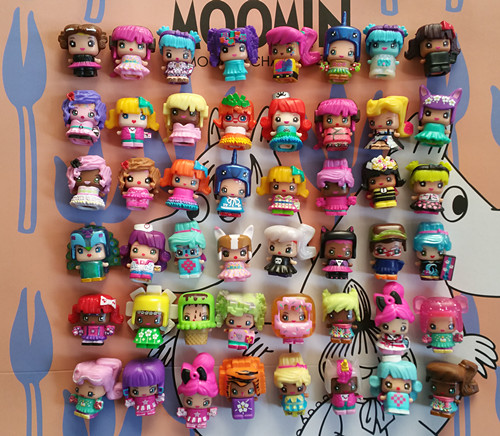 20pcs/set 2.5cm Mixie Mini Pinypon Scented Action Figure Doll PVC Lalaloopsy Toy Cartoon Anime My Mini Mixie For Girl D11