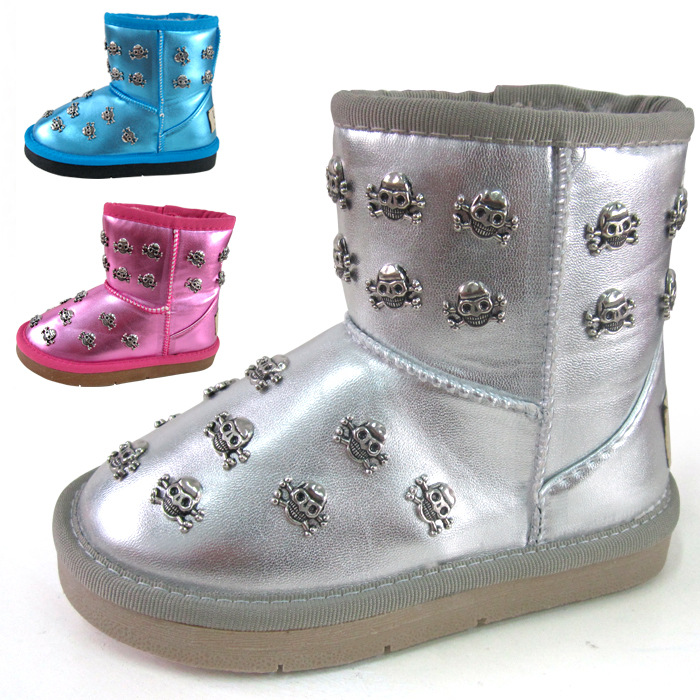 ФОТО winter children boots girls boots child snow boots warm cotton PU leather kids boots girls shoes free shipping