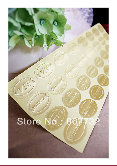 3523mm Gold Silver Foil Envelope Sticker 3 Styles High Quality Invitation